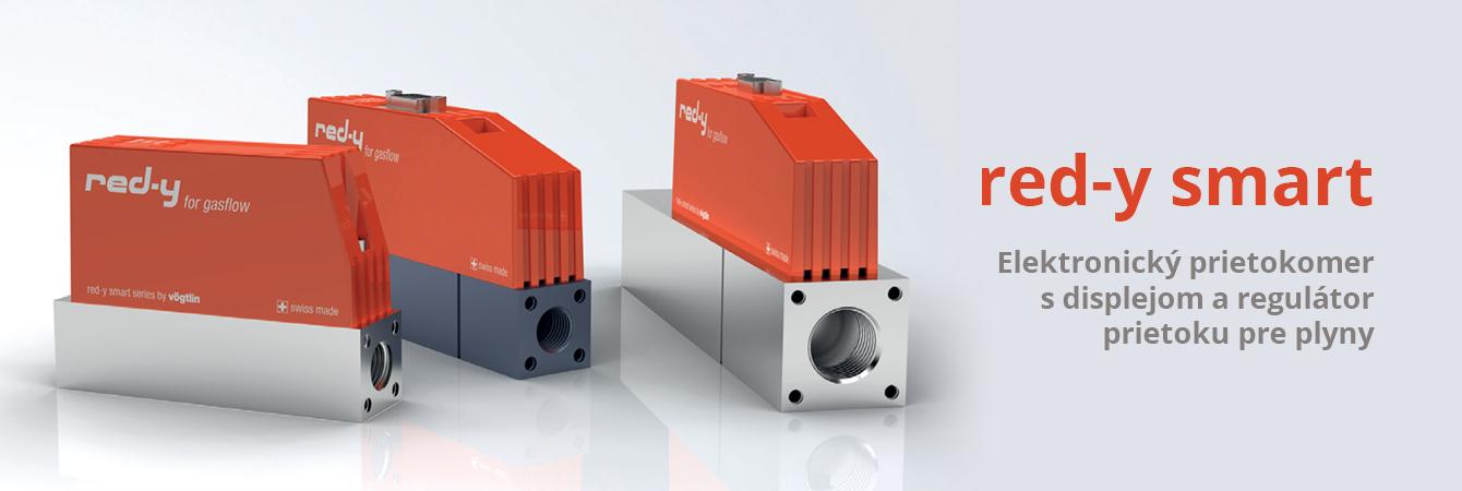Elektronický prietokomer s displejom a regulátor prietoku pre plyny